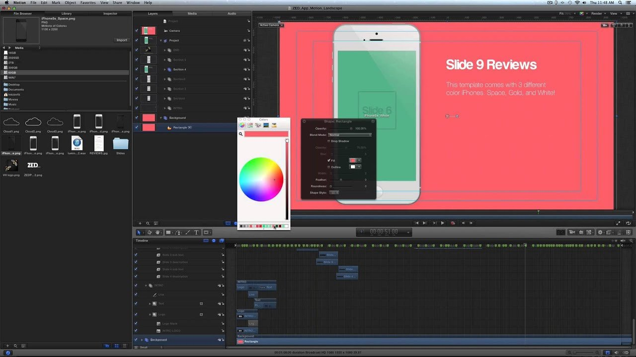 Free Apple Motion Templates Free Apple Motion 5 Template Help Video
