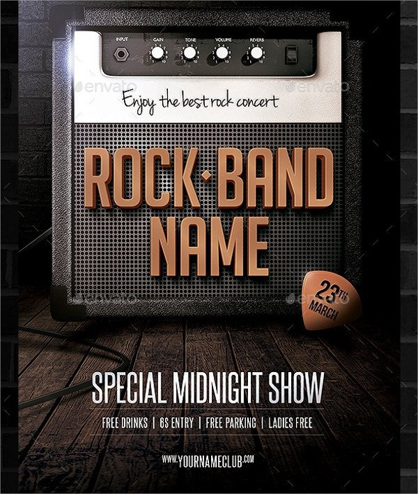 Free Band Flyer Templates 25 Band Flyer Templates Ms Word Publisher Apple Pages