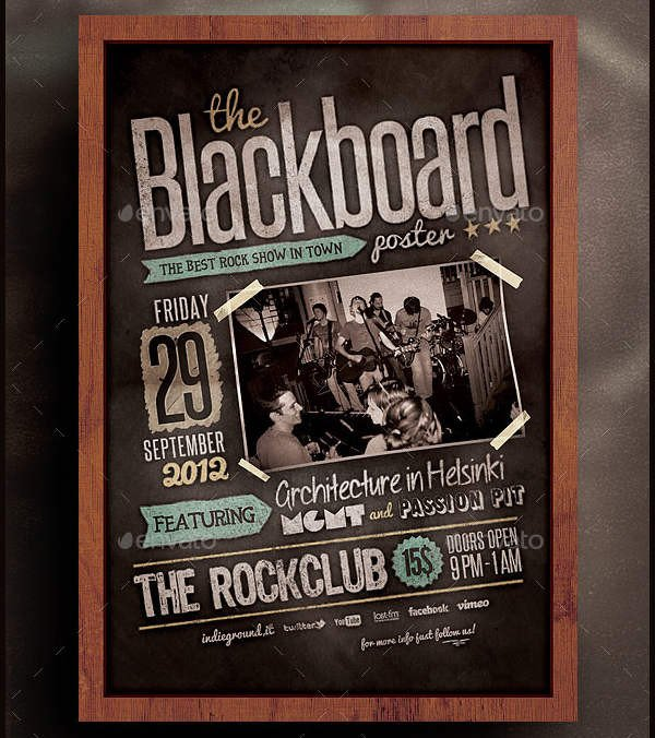 Free Band Flyer Templates 9 Band Poster Templates Psd Vector Ai Eps