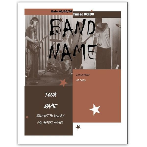 Free Band Flyer Templates Download Free Band Flyer Templates for Ms Word or Publisher