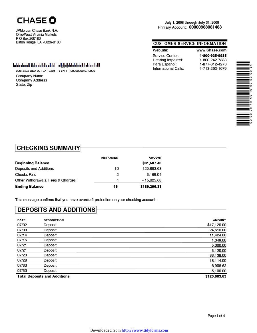 Free Bank Statement Generator 23 Editable Bank Statement Templates [free] Template Lab