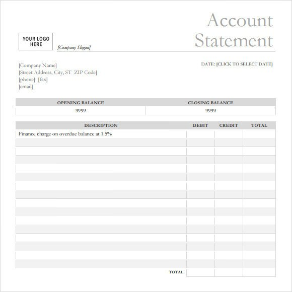 Free Bank Statement Template Bank Statement 9 Free Samples Examples format