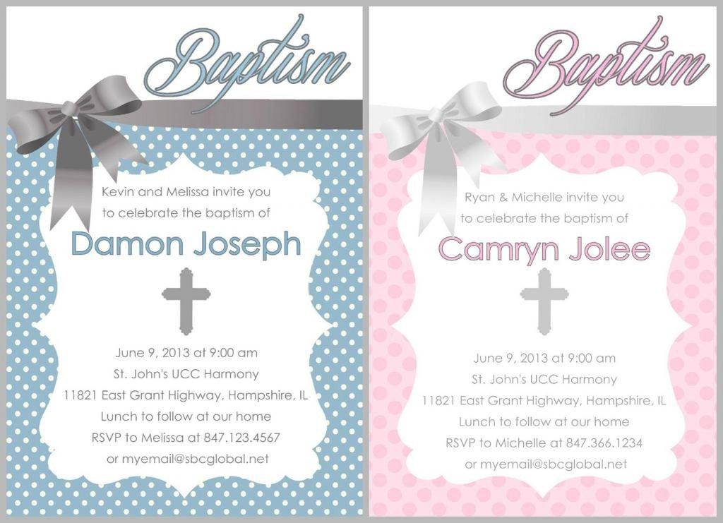 Free Baptism Invitation Templates Baptism Invitation Free Baptism Invitations to Print