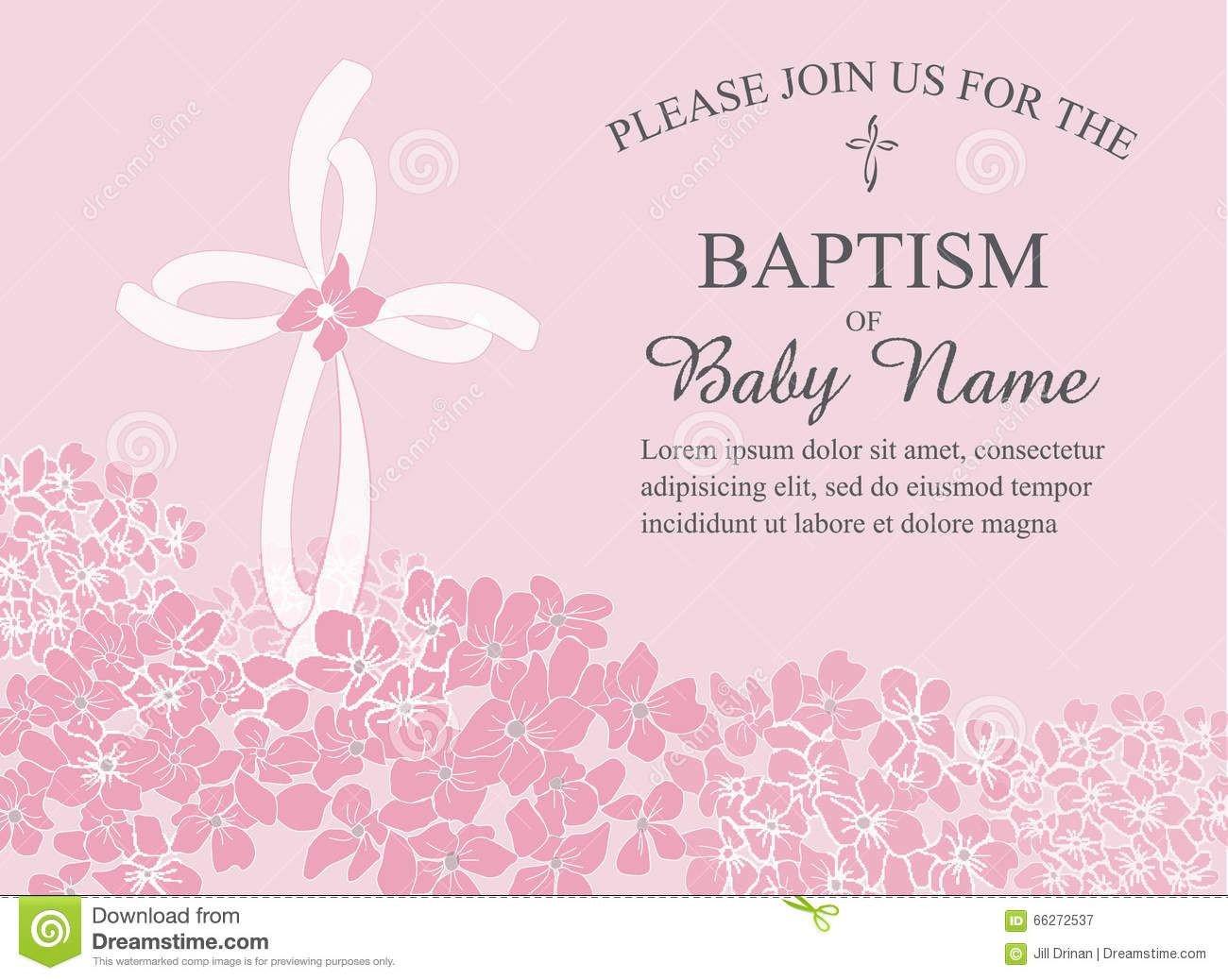 Free Baptism Invitation Templates Baptismal Invitation Template Baptism Invitation