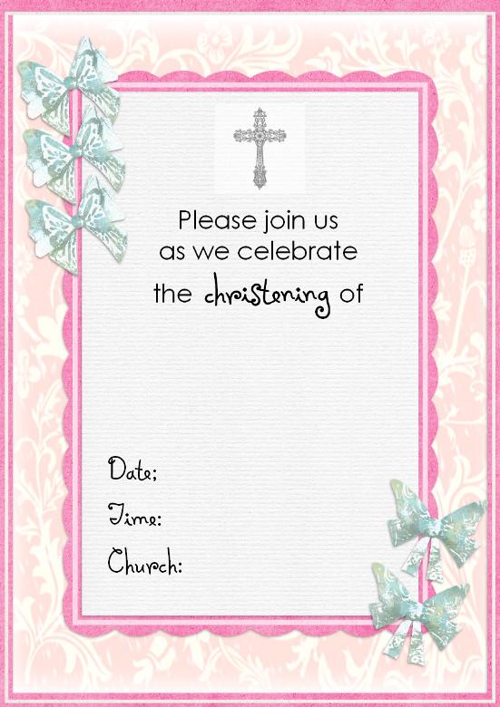 Free Baptism Invitation Templates Free Christening Invitation Cards