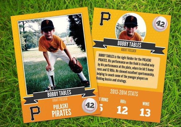 Free Baseball Card Template 33 Trading Card Template Word Pdf Psd Eps