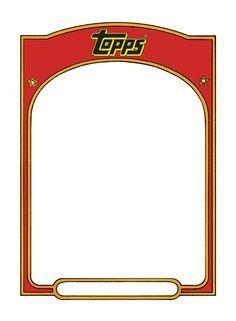 Free Baseball Card Template Baseball Card Templates Free Blank Printable
