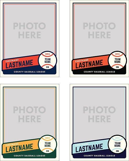 Free Baseball Card Template Royalty Free Baseball Clip Art Vector