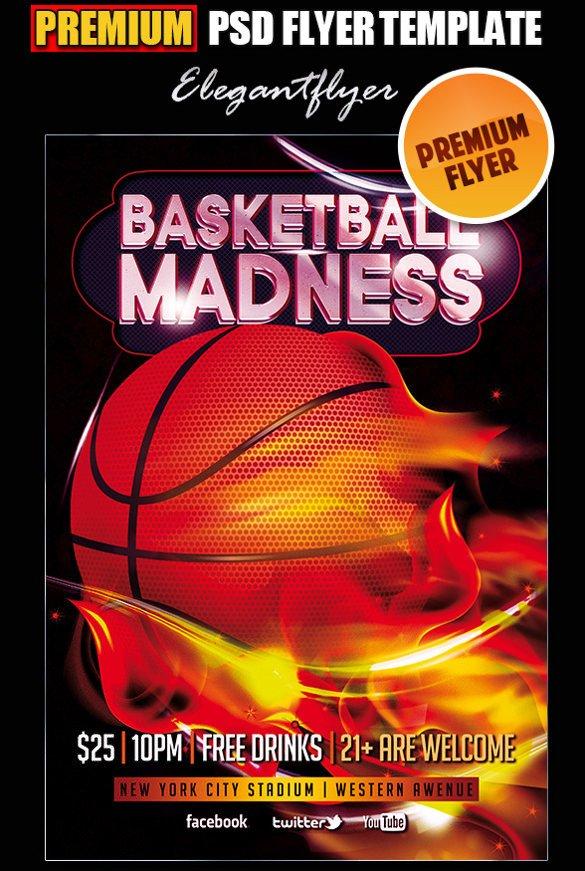 Free Basketball Flyer Template 31 Basketball Flyers Psd Ai Vector Eps