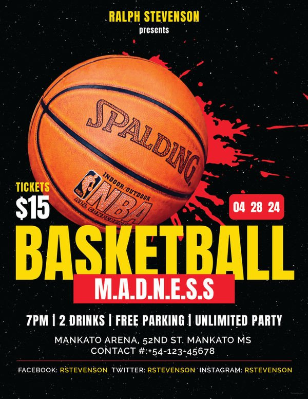 Free Basketball Flyer Template 36 Sports Flyer Templates Psd Word Ai Publisher