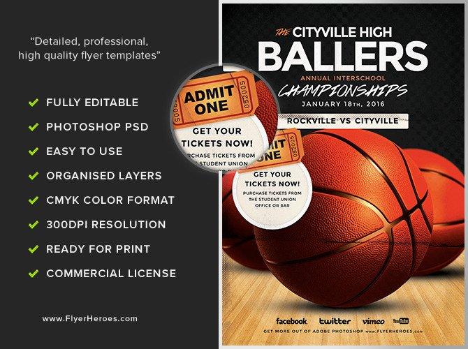 Free Basketball Flyer Template Basketball Flyer Template Flyerheroes