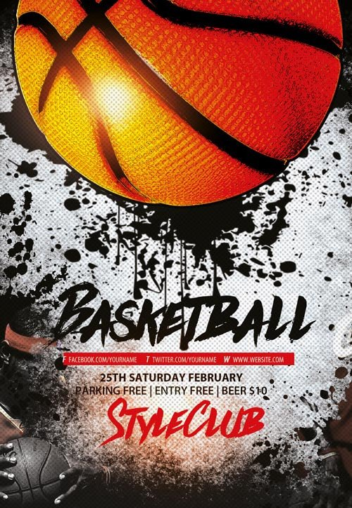 Free Basketball Flyer Template Basketball Free Sport Flyer Template Download Flyer