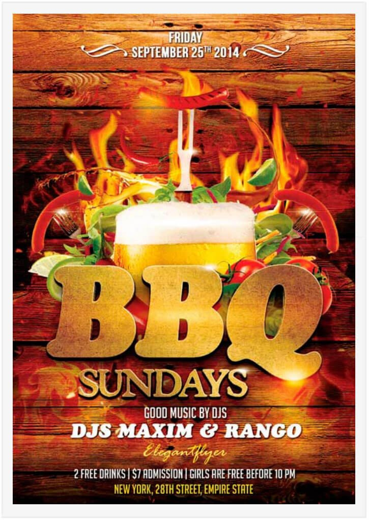 Free Bbq Flyer Template 15 Free Barbecue Flyer Templates In Psd Vector Ai Tech