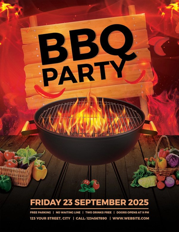 Free Bbq Flyer Template 17 Bbq Party Flyer Designs Psd Ai Vector Eps