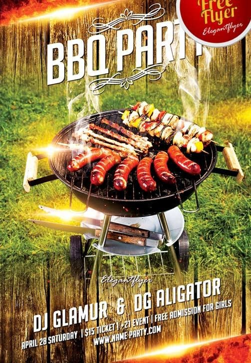 Free Bbq Flyer Template 7 Hot & Free Barbecue Bbq Flyers Templates