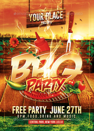 Free Bbq Flyer Template Bbq Party