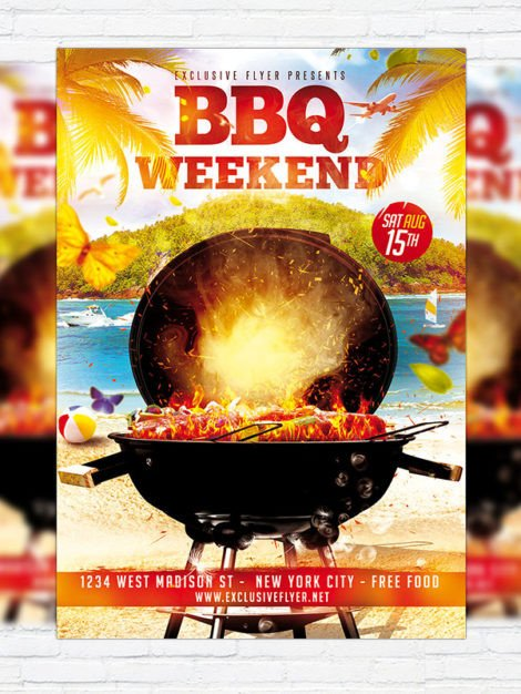 Free Bbq Flyer Template Bbq Weekend – Premium Flyer Template Cover