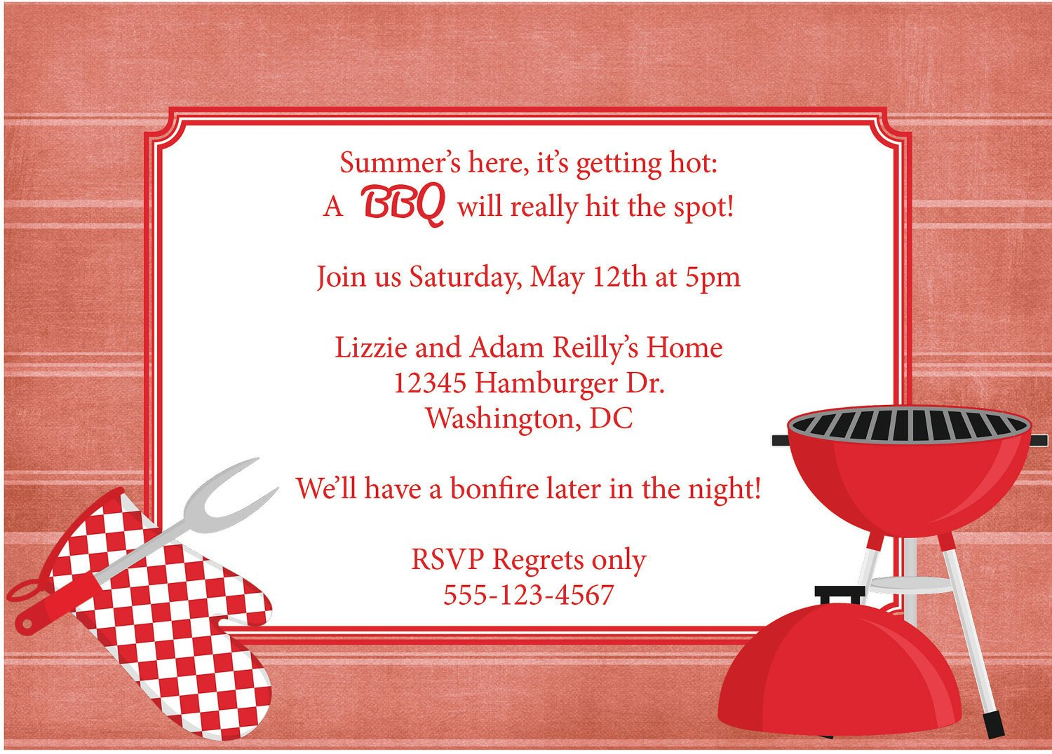 Free Bbq Invitation Template Bbq Invitation Barbeque Invite Diy Printable by
