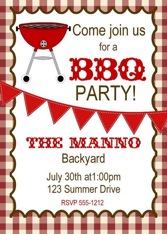 Free Bbq Invitation Template Bbq Invitation Bbq Birthday Invitation by