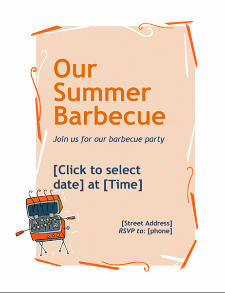 Free Bbq Invitation Template Bbq Invitation Flyer