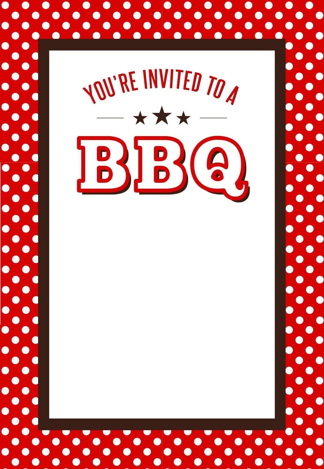Free Bbq Invitation Template Bbq Party Invitation Free Printables