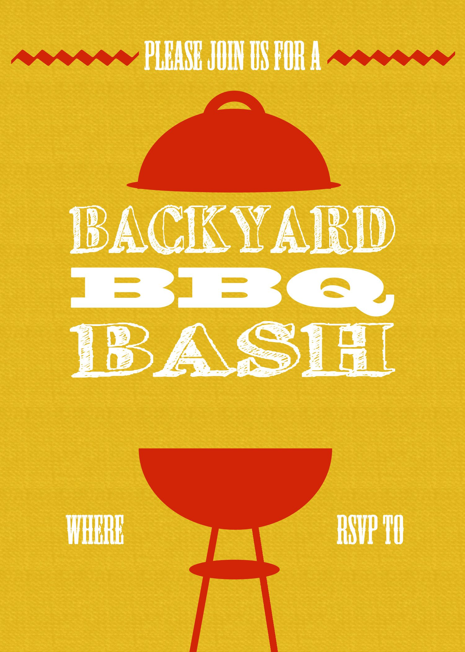 Free Bbq Invitation Template Diy Printable Backyard Bbq Bash Invite