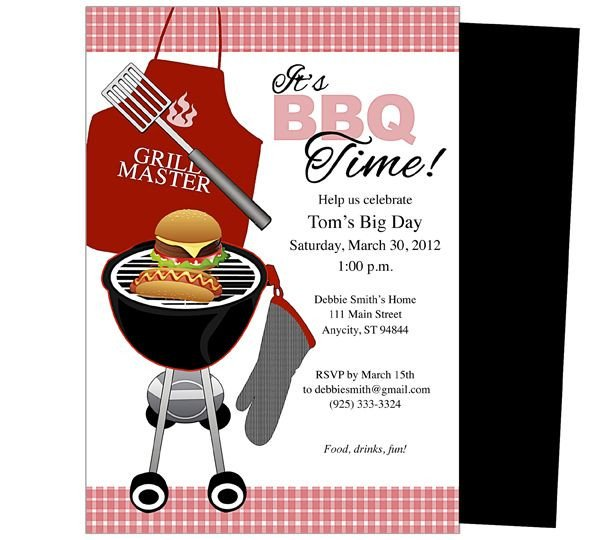 Free Bbq Invitation Template General Birthday Party Templates Bbq Birthday Invitation