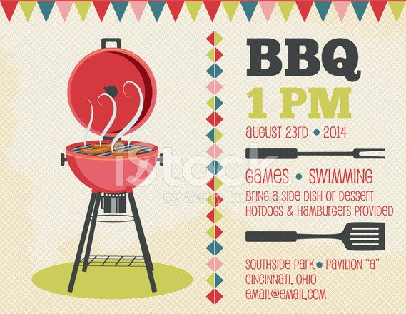 Free Bbq Invitation Template Retro Bbq Invitation Template Stock Photos Free