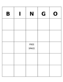 Free Bingo Card Template 7 Best Bingo Template Images On Pinterest