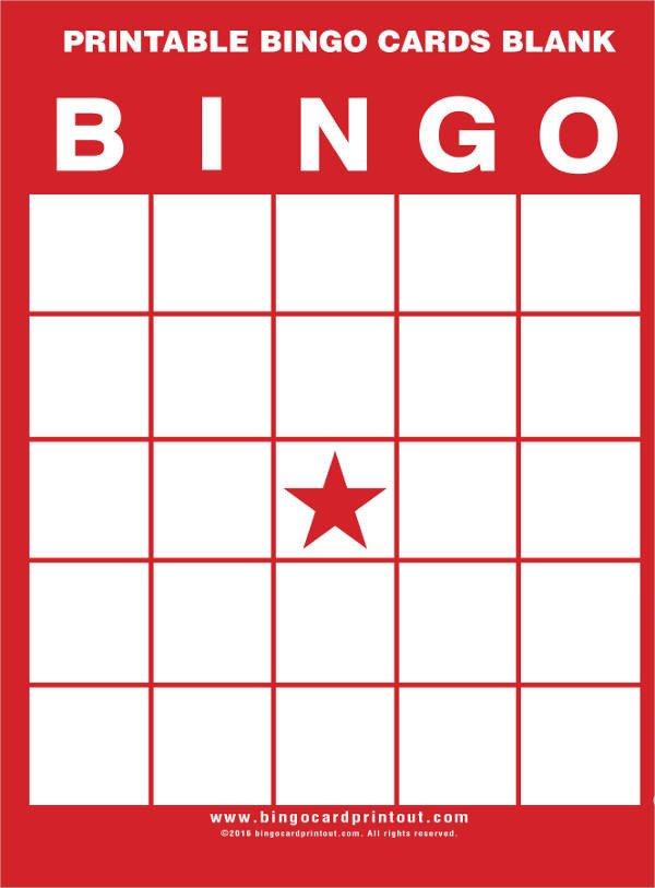 Free Bingo Card Template 9 Free Printable Cards