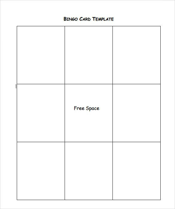 Free Bingo Card Template Sample Bingo Card 11 Documents In Pdf Word