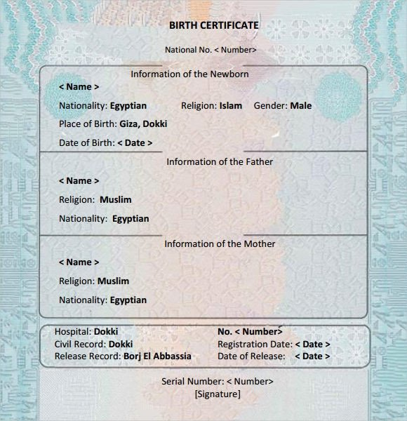 Free Birth Certificate Template 12 Birth Certificate Templates – Examples Samples Word