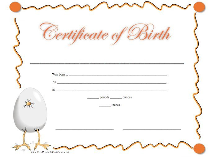 Free Birth Certificate Template 15 Birth Certificate Templates Word & Pdf Free