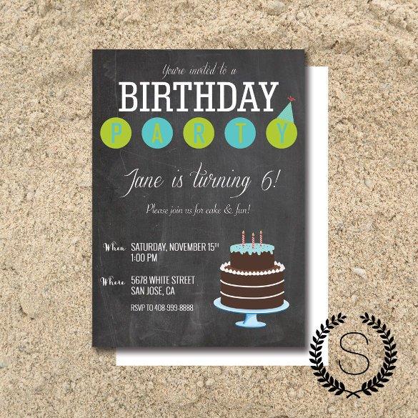 Free Birthday Chalkboard Template Chalkboard Invitation Template 43 Free Jpg Psd