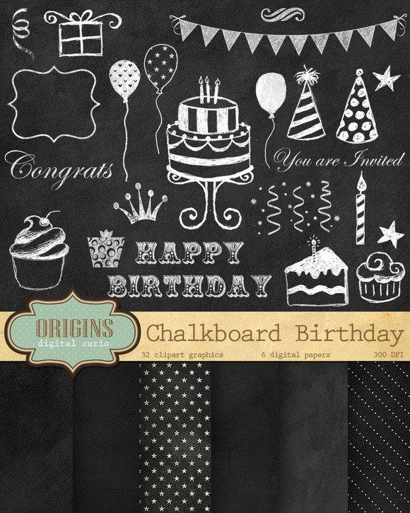 Free Birthday Chalkboard Template Free Template Chalkboard Birthday Gimp Designtube