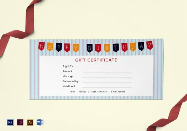 Free Birthday Gift Certificate Template 20 Birthday Gift Certificate Templates Free Sample