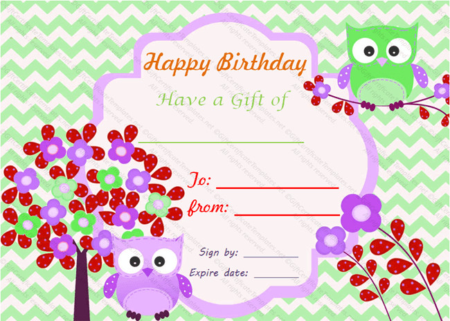 Free Birthday Gift Certificate Template Birthday Bumps Gift Certificate Template