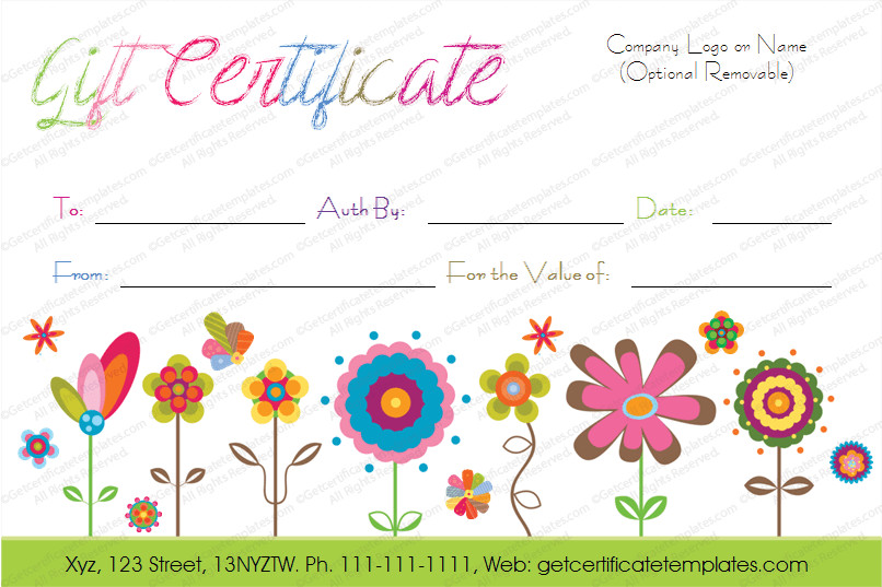 Free Birthday Gift Certificate Template Birthday Gift Certificate Template