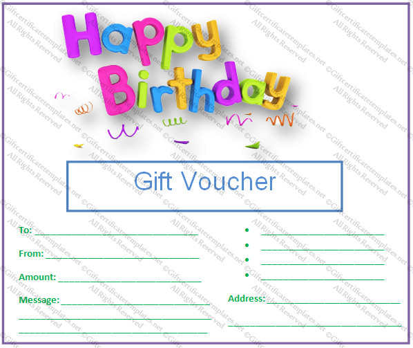 Free Birthday Gift Certificate Template Birthday Gift Certificate Templates Gift Certificates