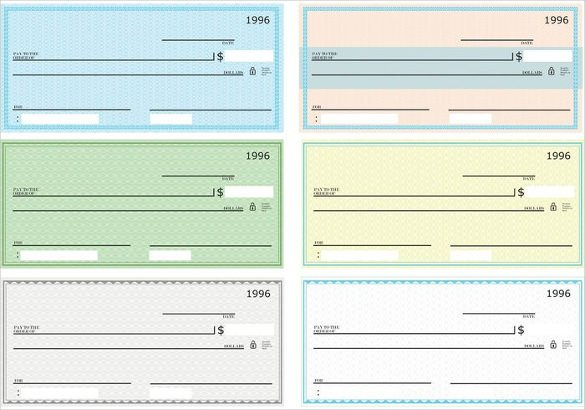 Free Blank Check Template Pdf Blank Check Template – 30 Free Word Psd Pdf & Vector