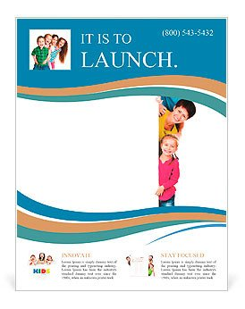 Free Blank Flyer Templates Beautiful Fun Family Behind A White Blank Flyer Template
