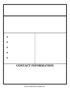 Free Blank Flyer Templates Blank Flyer