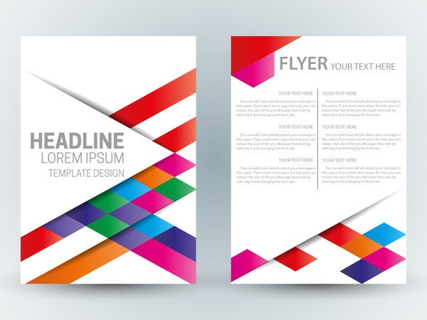 Free Blank Flyer Templates Flyer Template Design with Abstract Colorful Bright