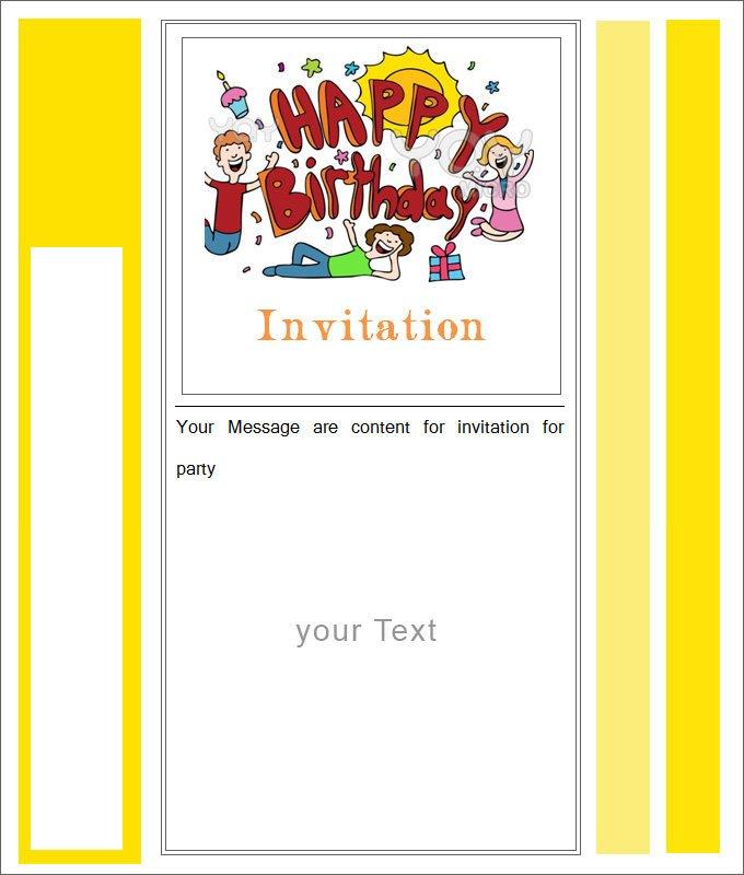Free Blank Invitation Templates 27 Best Blank Invitation Templates Psd Ai