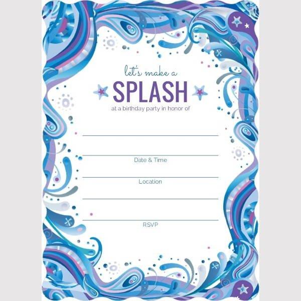 Free Blank Invitation Templates 7 Blank Party Invitations Free Editable Psd Ai Vector