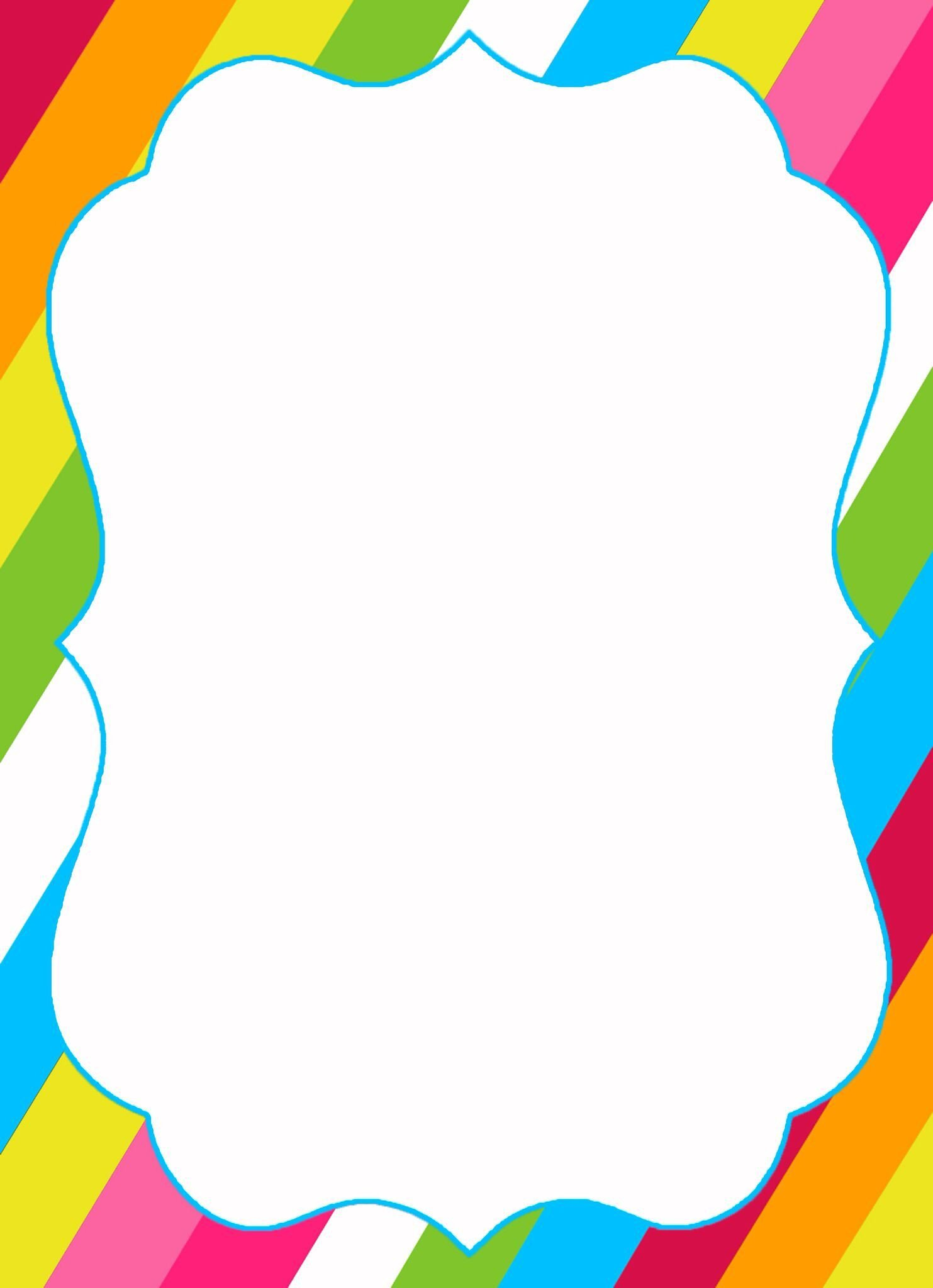Free Blank Invitation Templates Dropbox Candyland Invitation