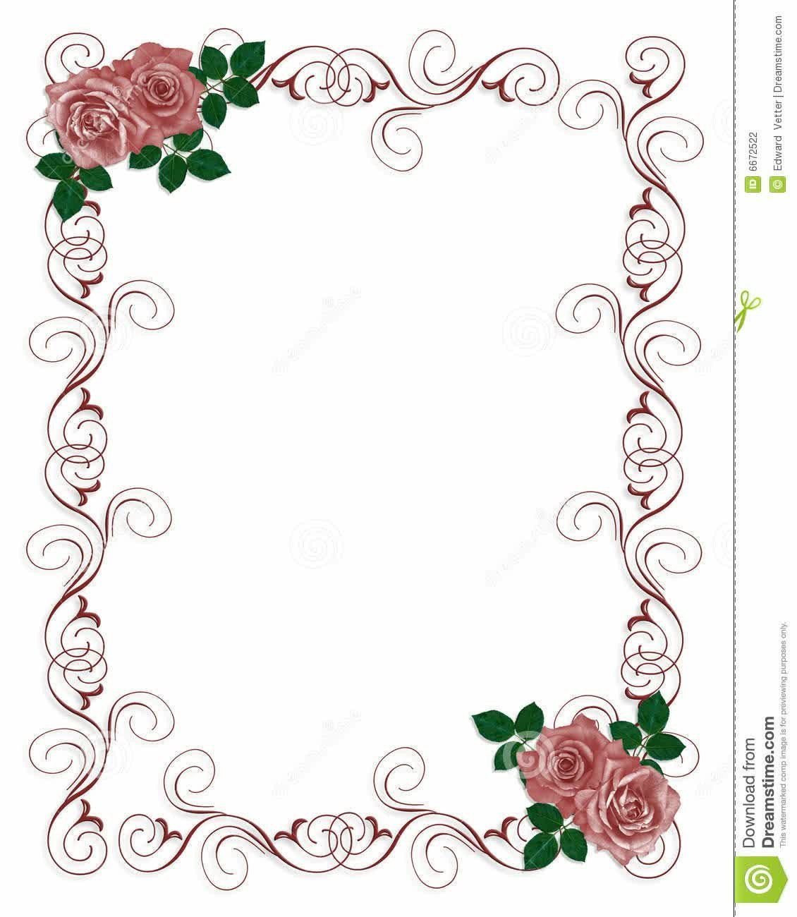 Free Blank Invitation Templates Floral Blank Wedding Invitation Templates