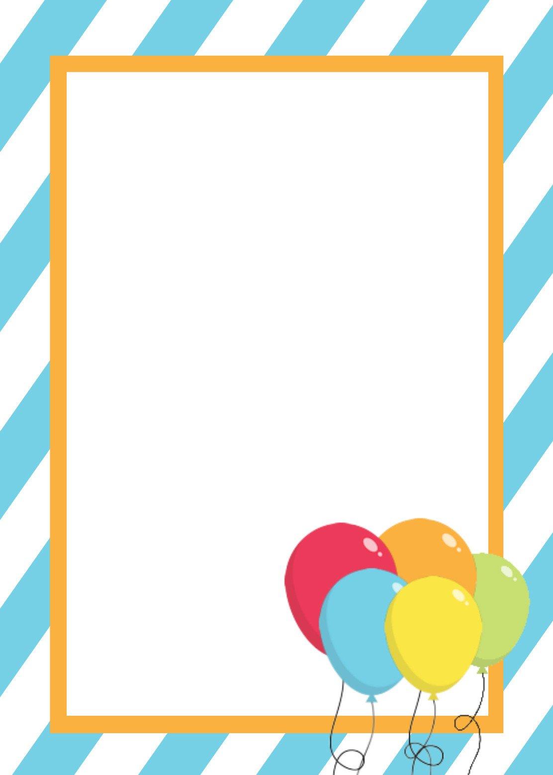 Free Blank Invitation Templates Free Printable Birthday Invitation Templates
