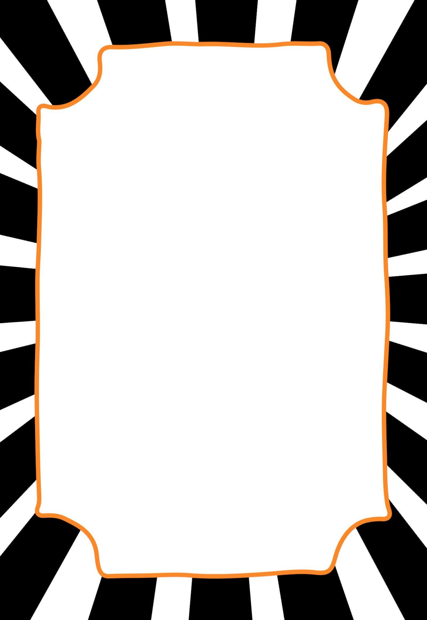 Free Blank Invitation Templates Halloween Invitations Free Printable Template Paper