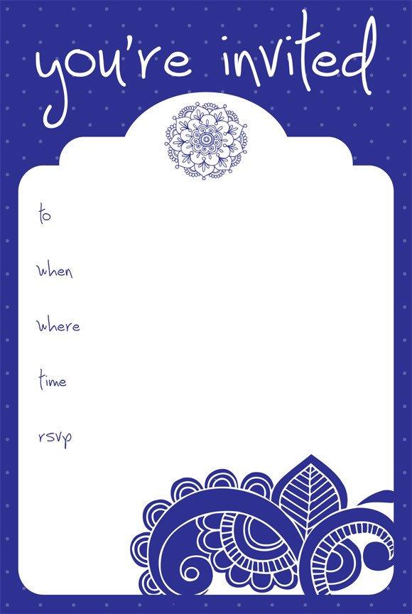 Free Blank Invitation Templates Invitation Design Category Page 1 Jemome